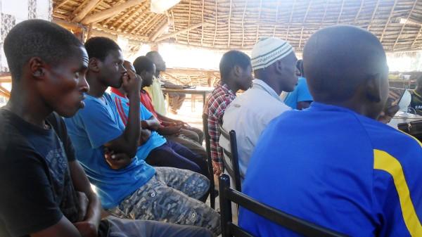 Students listening carefully to Mr. Mohammeds life story.